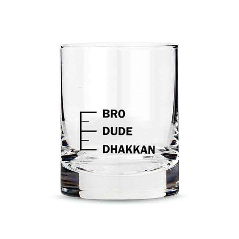 Whiskey Glasses Liquor Glass-  Anniversary Birthday Gift Funny Gifts for Husband Bf - DHAKKAN DUDE BRO