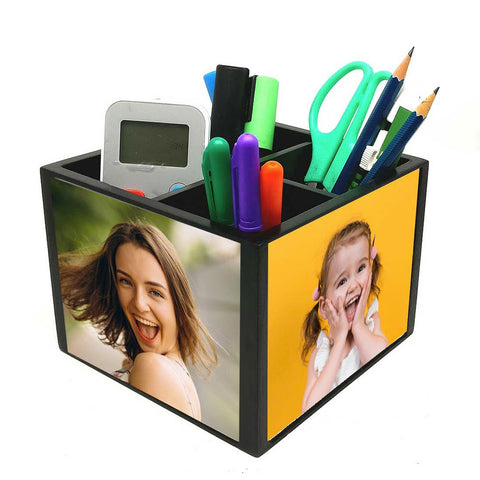 CUSTOMIZED DESK STATIONERY ORGANIZER HOLDER - ADD YOUR PICS