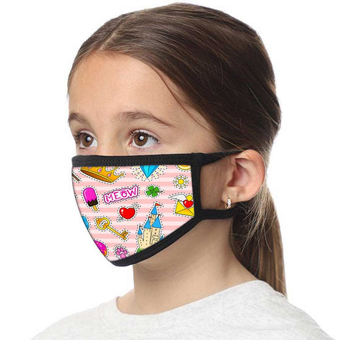 Kids Facemask - Set Of 2 -   Fun Icons