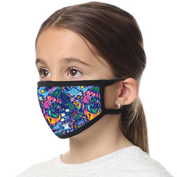 Kids Facemask - Set Of 2 -  Tasmanian Night
