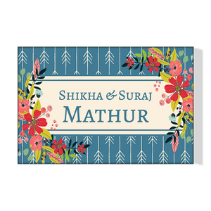 Personalized Floral Name Plate For Home