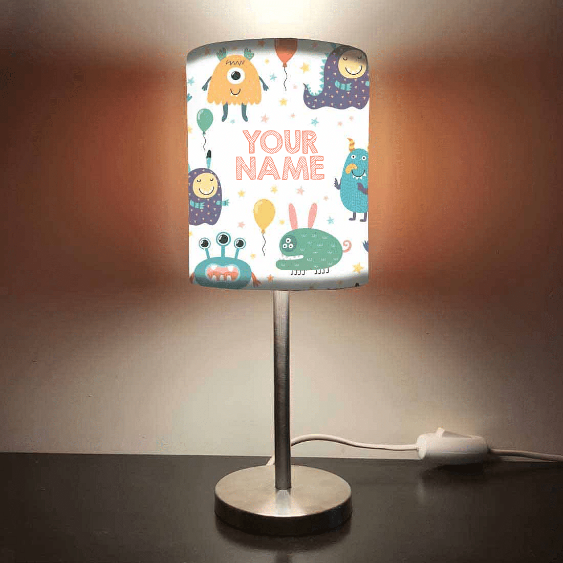 Personalized Kids Bedside Night Lamp-Cute Monster