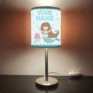 Personalized Kids Bedside Night Lamp-Jellyfish And Mermaid