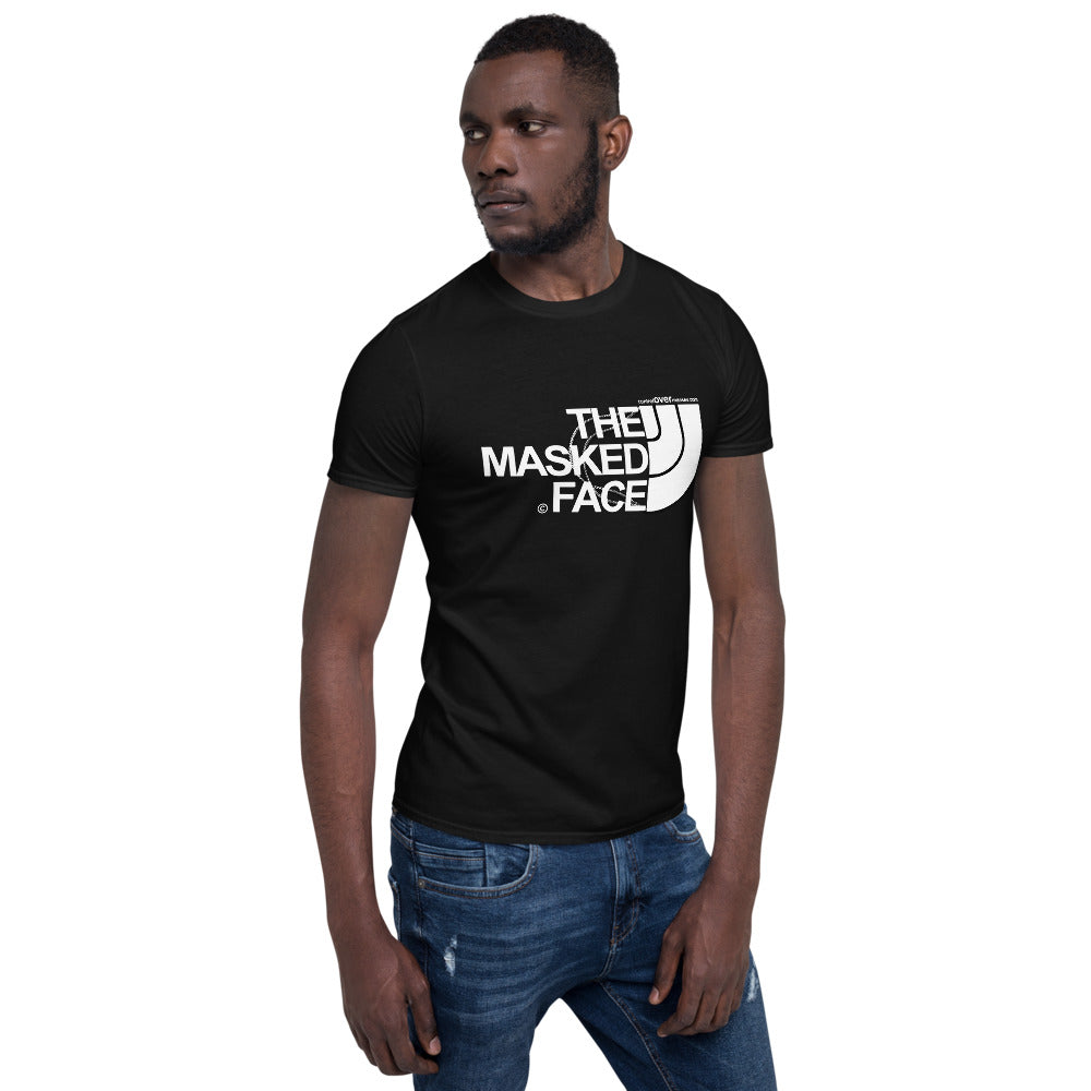 MASKED FACE DARK TEE - Short-Sleeve Unisex T-Shirt
