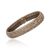 David Rosas Mesh Bracelet With 5 Filaments In Gold And Brown Diamonds