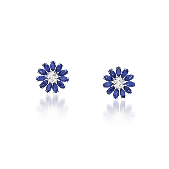 David Rosas Fiori Marquise Earrings