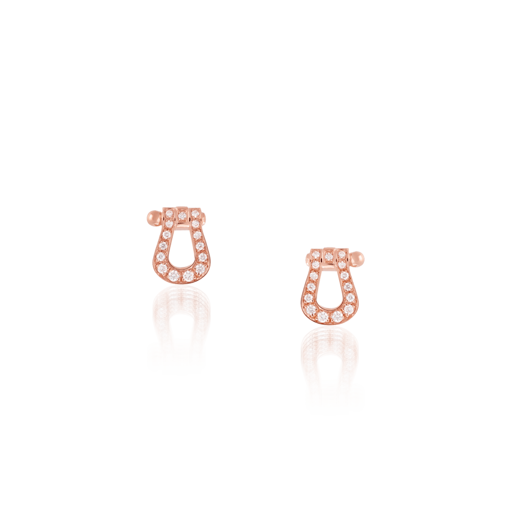 Fred Force 10 Small Earrings Pink Gold & Diamonds