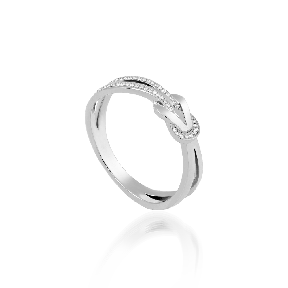 Fred 8º0 Small Ring White Gold & Diamonds