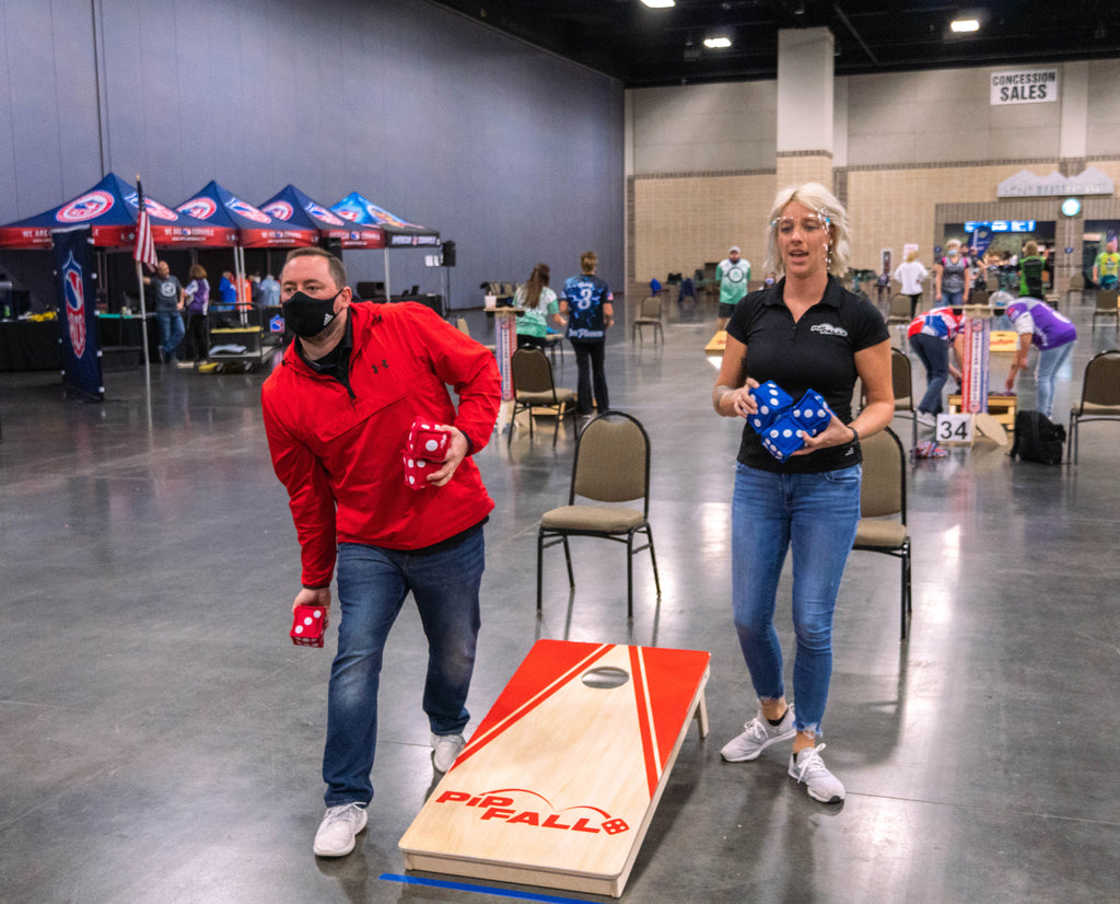Players young and old tried PIPFALL this weekend!