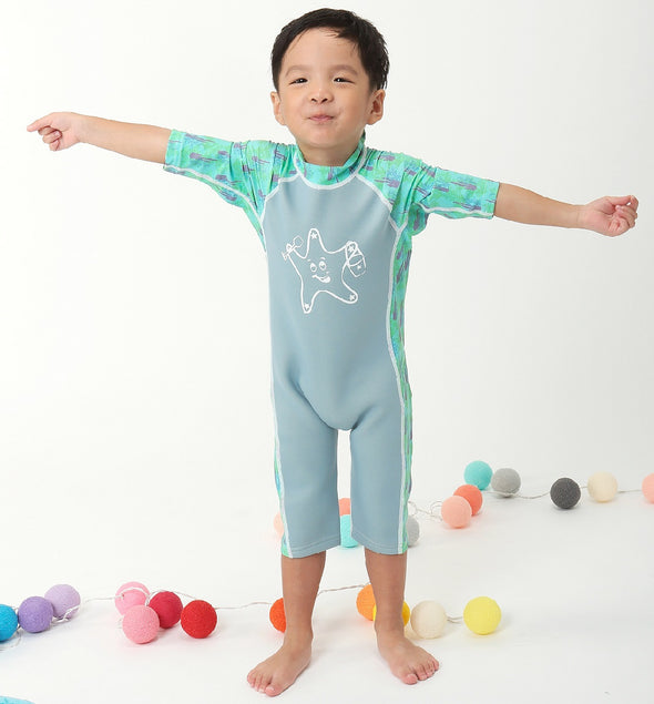 Warm Kinetic (Half Sleeves)- Aqua Star