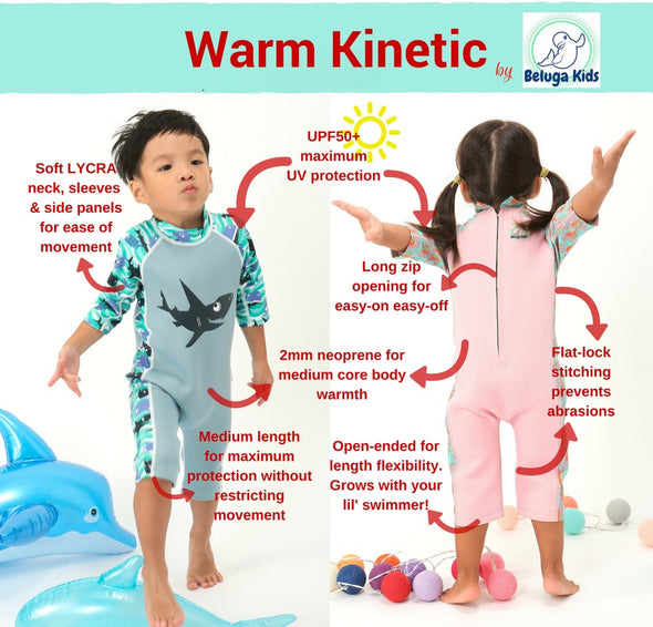 Warm Kinetic (Half Sleeves) - Shark Blue