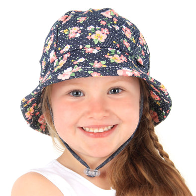 Cotton Ponytail Bucket Hat - Gabrielle (Only Size 3-6y left)