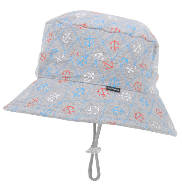 Cotton Bucket Hat - Nautical (Only Size 6-12m left)