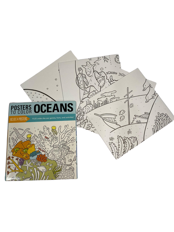Posters to Colour: Oceans