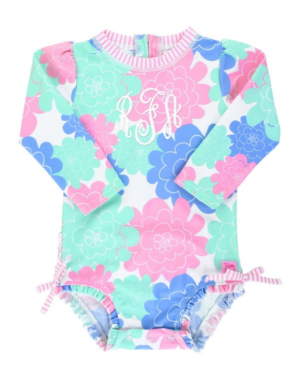 Long Sleeve One Piece - Pastel Petals