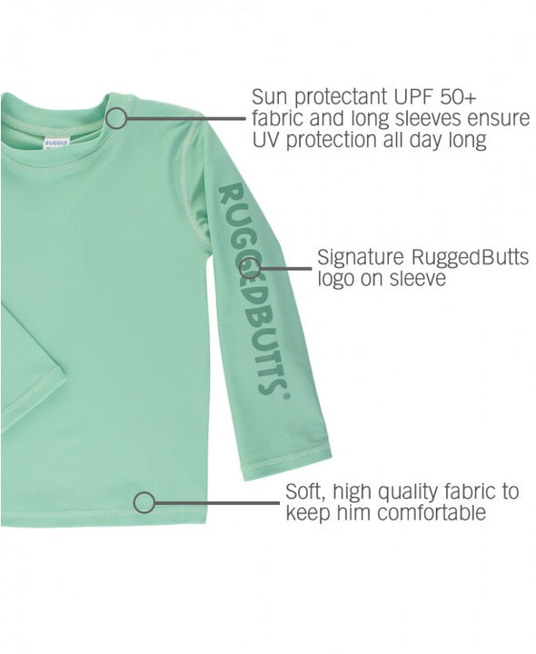 Long Sleeve Rash Guard Set - Sage Aloha