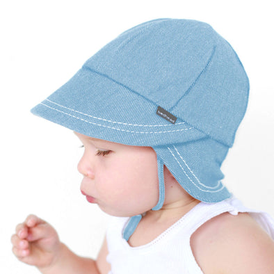 Cotton Legionnaires Cap - Chambray