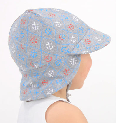 Cotton Legionnaire Cap - Nautical (Only Size 6-12m left)