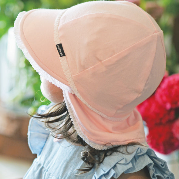 Cotton Legionnaires Cap - Blush (Only Size 0-3m left)