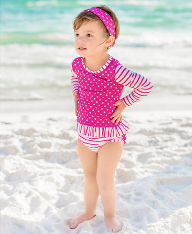 Long-Sleeved Two-Piece - Berry
