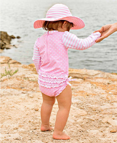 Long Sleeve One-Piece - Sweet Pink