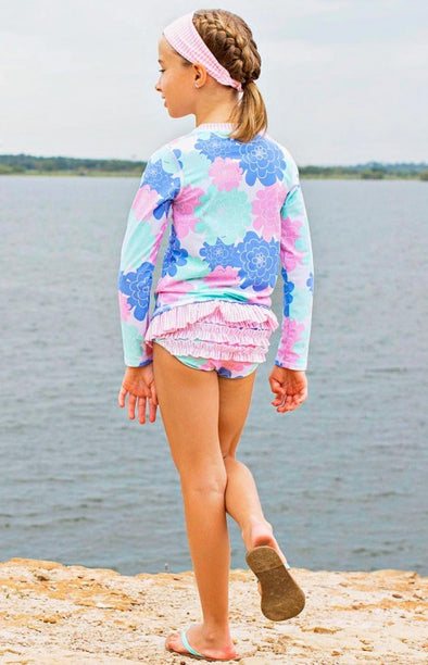 Long-Sleeved Two-Piece - Petals