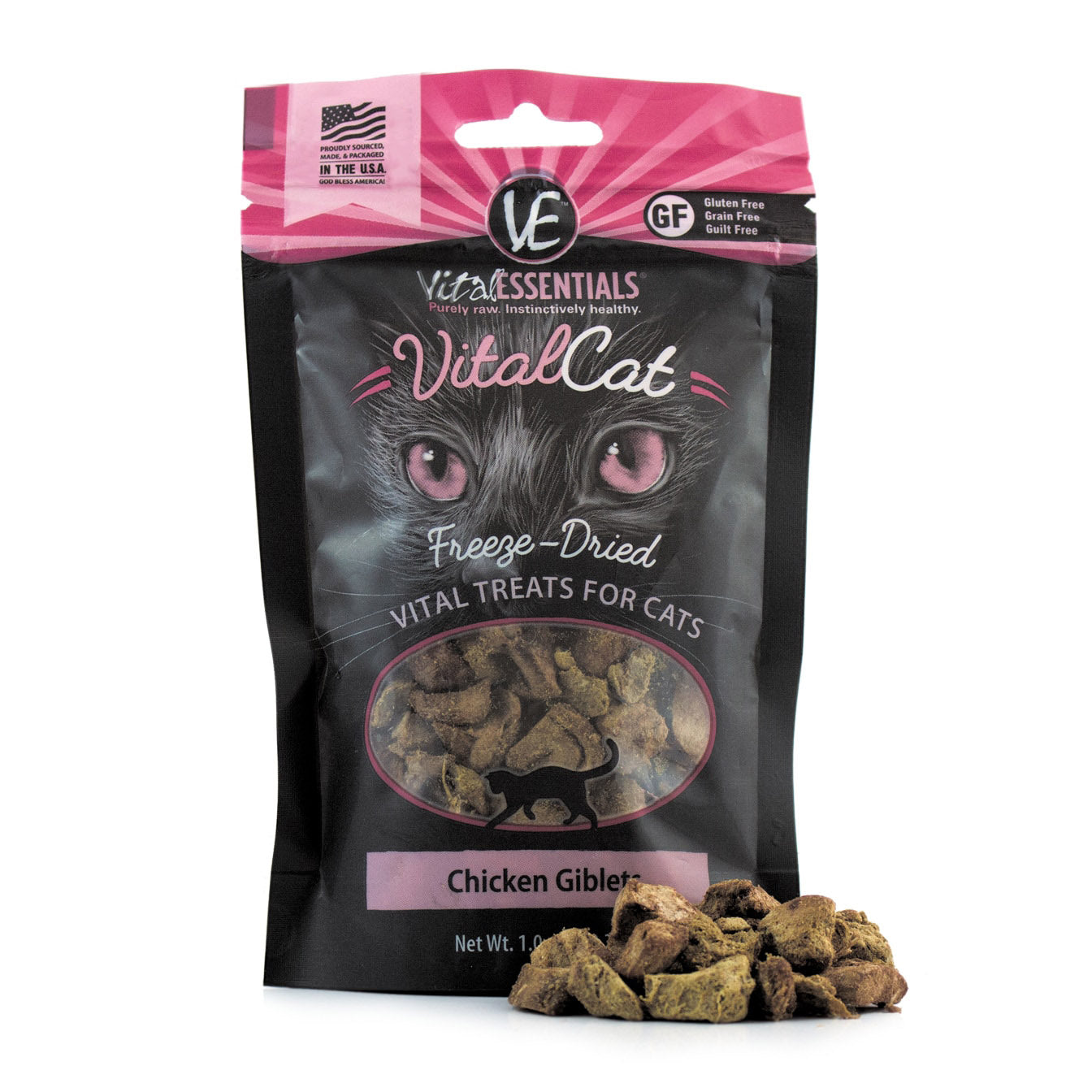 Freeze-Dried Chicken Giblets Cat Treats