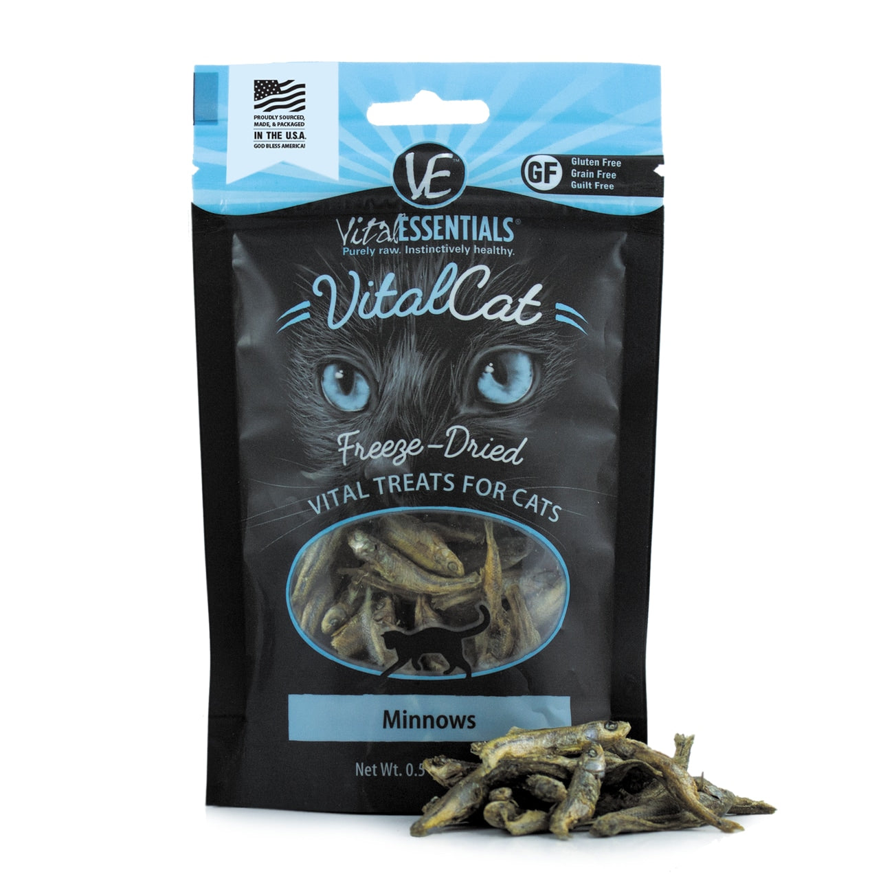Freeze Dried Minnows for Cats Treats