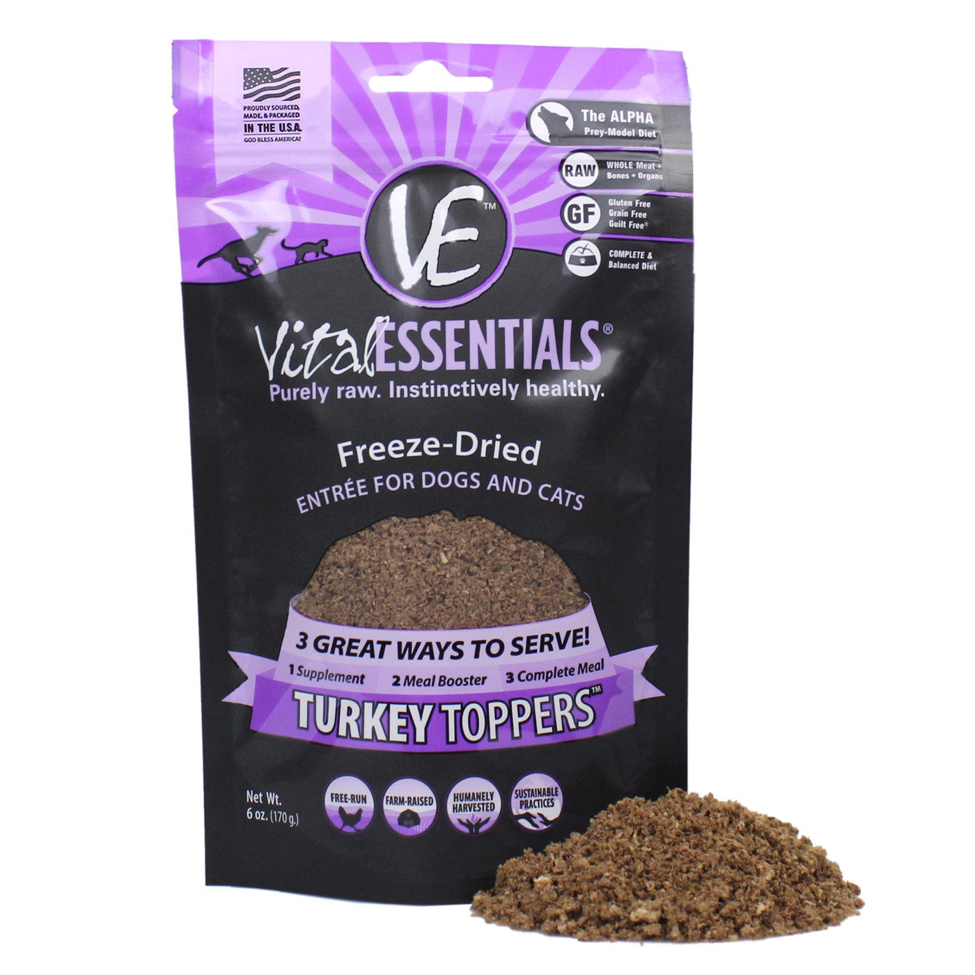 Freeze Dried Turkey Dog Meal Toppers