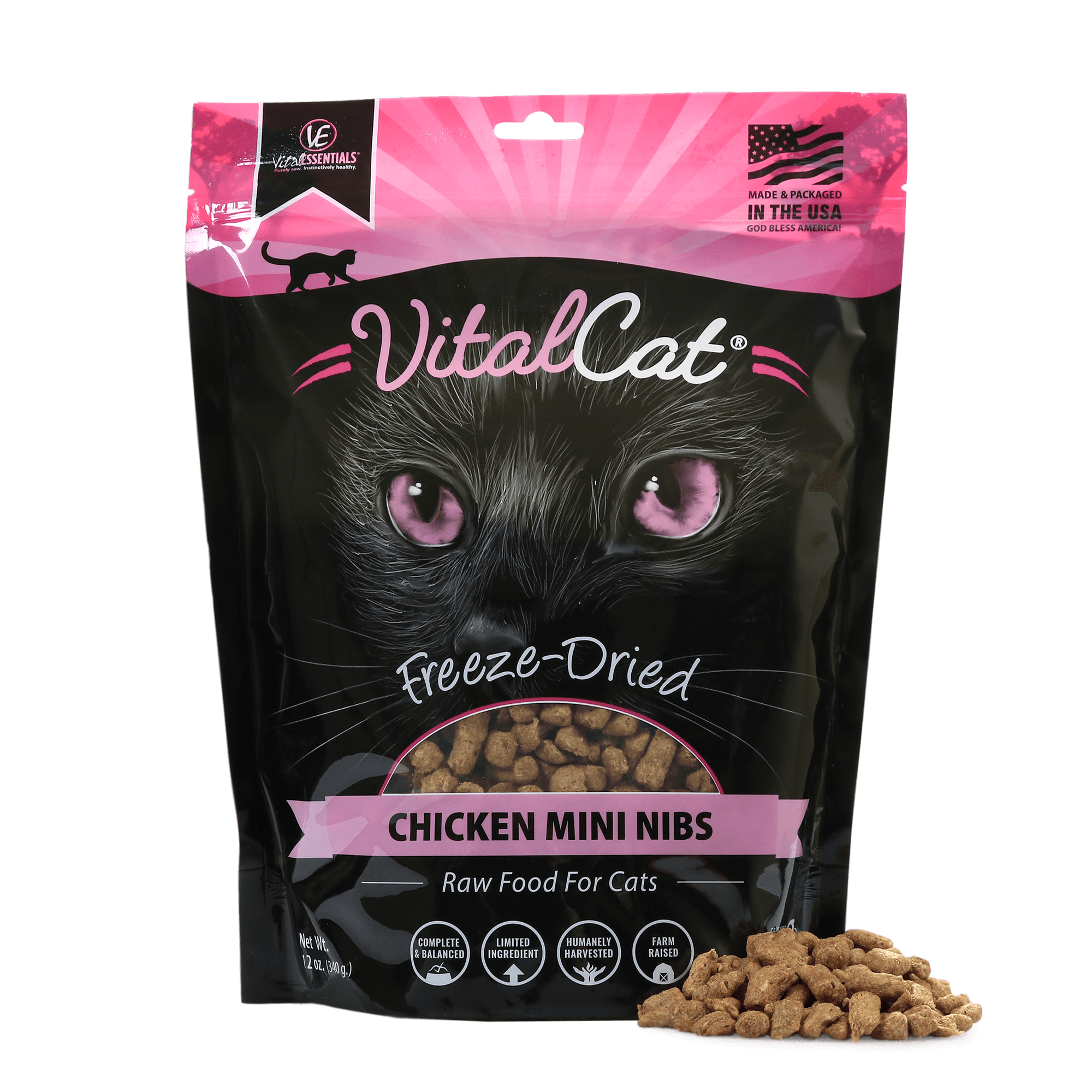 Freeze Dried Mini Nibs Raw Chicken Cat Food
