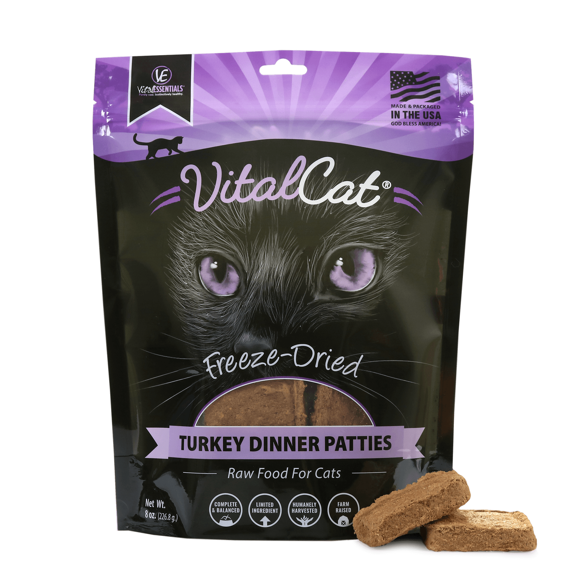 Vital Cat Freeze Dried Dinner Patties Turkey Cat Food
