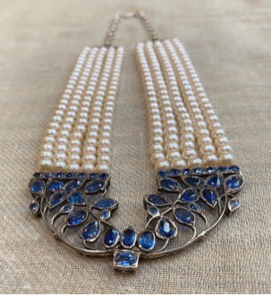 Kyanite Pearl Necklace