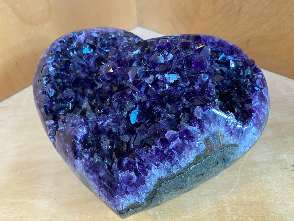 Amethyst Heart Large