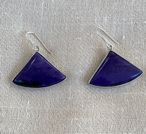 Sugilite Silver Earrings