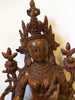 Large Brass White Tara Statue