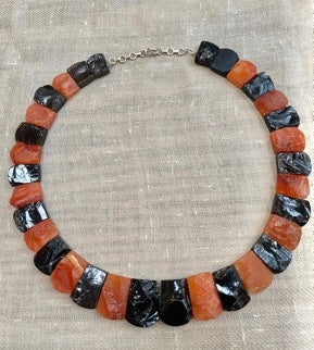 Carnelian & Smokey Quartz Necklace