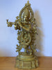 Brass Krishna Playing Flute Statue