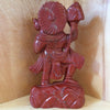 Red Jasper Hanuman with Mountain Statue