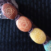 Large Chakra Crystal Wand with Engravings and Amethyst and Red Jasper