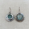 Roman Glass Silver Earrings