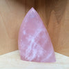 Blushing, rose quartz flame.