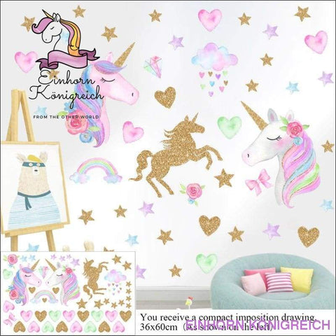 UNICORN STICKERS DECORATION - Einhorn-Königreich