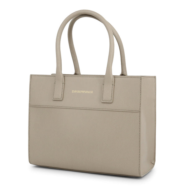 Emporio Armani Womens Brown Tote Bag with Zip Fastening - Y3A115_YSE2B