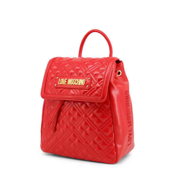 Love Moschino Womens Red Backback with Drawstring- JC4012PP1BLA