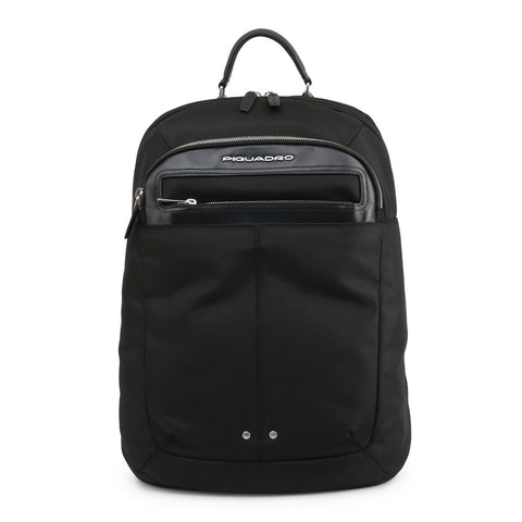 Piquadro Mens Black Backpack with Padded Shoulder Straps - CA3772LK2