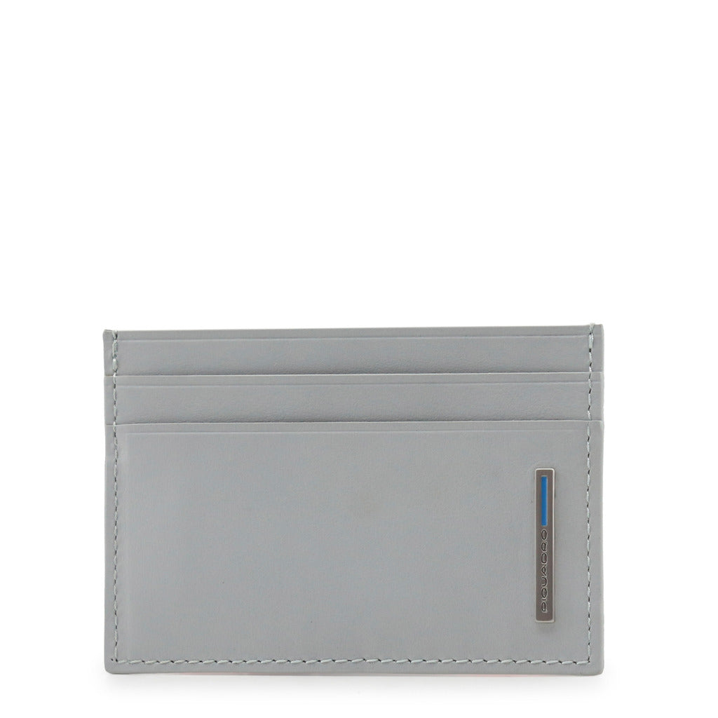 Piquadro Mens Grey Leather Credit Card Holder - PP906B2