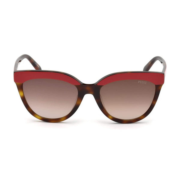 Emilio Pucci Womens Red/Brown Tortoise Shell Sunglasses - EP0085