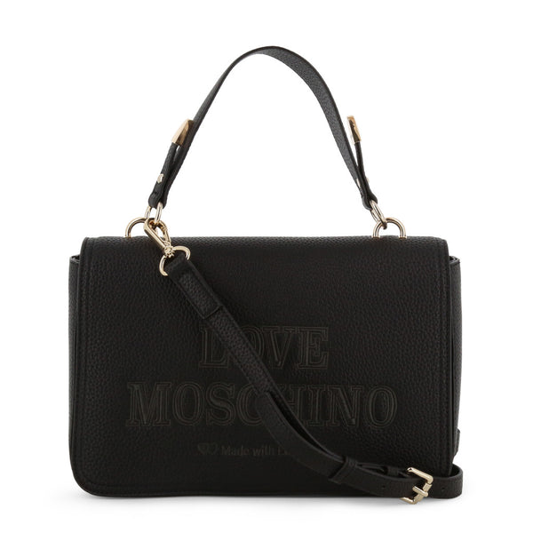 Love Moschino Womens Black Crossbody Bag with Adjustable Strap - JC4288PP08KN