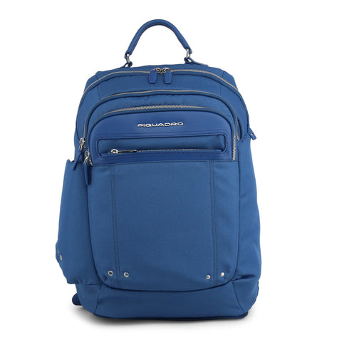 Piquadro Mens Blue Backpack with Padded Shoulder Straps - OUTCA2961LK