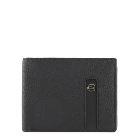 Piquadro Mens Black Leather Card Holder - PU1241S86